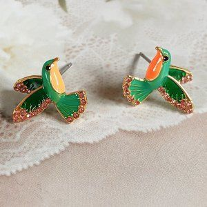 Kate Spade Enameled Bird Earrings